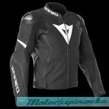DAINESE AVRO 4 LEATHER JACKET - BLACK-MATT/BLACK-MATT/WHITE куртка кож муж 52