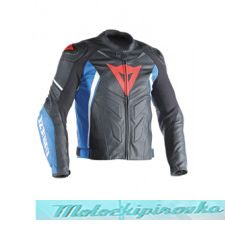 DAINESE AVRO 4 LEATHER JACKET - LAVA-RED/WHITE/AZZURRO-S куртка кож муж 48