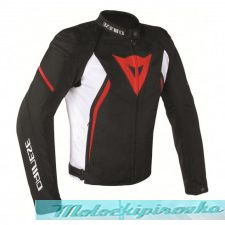 DAINESE AVRO D2 TEX JACKET - BLACK/WHITE/RED куртка кож муж 52