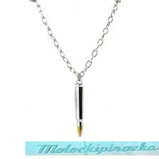 Bullet on Metal Chain Necklace