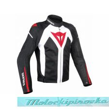 DAINESE HYDRA FLUX D-DRY JACKET - BLACK/RED/WHITE куртка муж 50