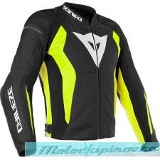 DAINESE NEXUS LEATHER JACKET - BLACK/FLUO-YELLOW куртка кож муж 54