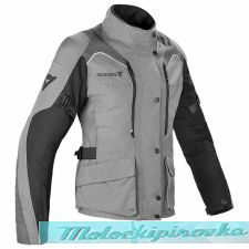 DAINESE TEMPEST 2 LADY D-DRY JACKET - LIGHT-GRAY/BLACK/TOUR-RED куртка тек жен 42