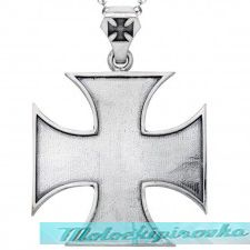 Mens Sterling Silver Iron Cross Ring
