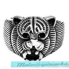 Mens Stainless Steel Wild Cat Ring