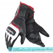 DAINESE ASSEN GLOVES - BLACK/WHITE/LAVA-RED перчатки муж S