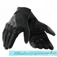 DAINESE X-MOTO GLOVES BLACK/FLUO-RED перчатки L