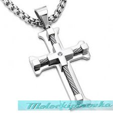 Stainless Steel Large Crucifix Pendant