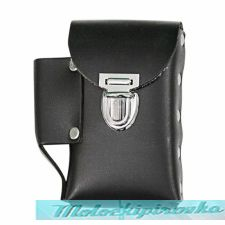 Leather Black Cigarette Case with Lighter Holder