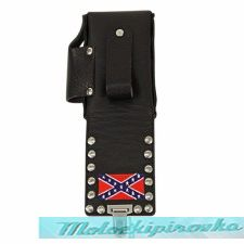 Leather Rebel Studded Cigarette Case with Lighter Holder