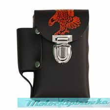 Leather Eagle Cigarette Case with Lighter Holder