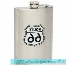 ROUTE 66 8 oz. Stainless Steel Flask