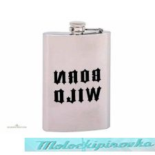BORN WILD 8 oz. Stainless Steel Flask
