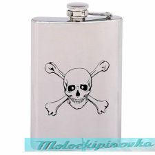 Crossbones 8 oz. Stainless Steel Flask