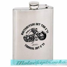 IT'S NOT THE DESTINATION IT'S THE JOURNEY 8 oz. Stainless Steel Flask