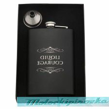 Liquid Courage 8 o.z Stainless Steel Flask