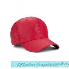Classic Unisex Red Leather Baseball Cap