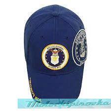 Officially Licensed Airforce Patch and Embroidered Blue Military Hat