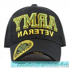 Officially Licensed Army Embroidered Black Military Hat