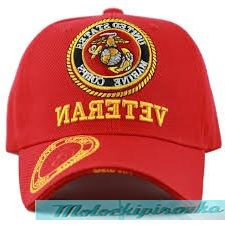 Officially Licensed Marine Embroidered Red Military Hat