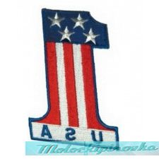 Number 1 USA Patch