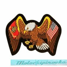 Officially Licensed Marine And United States Flag Eagle 13.5X10 Inch
