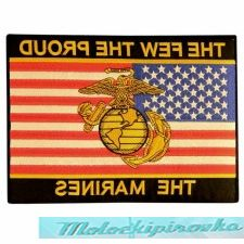 Нашивка на мотоциклетную куртку Officially Licensed The Few The Proud Marines Large Military Patch