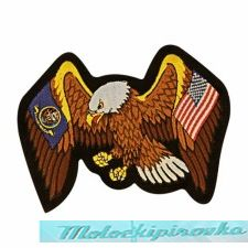 Officially Licensed Navy and United States Flag Eagle 4X6 Inch Patch