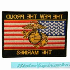 Нашивка на мотокуртку Officially Licensed The Few The Proud The Marines Medium Military Patch