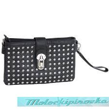 LANY Large Studded Black Clutch
