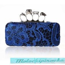 Женская сумка Womens Skull Knuckle Blue Woven Clutch