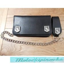 Tri-fold POW Black Leather Wallet
