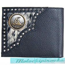 Кошелёк Tri-fold Dont Tread On Me Black Leather Wallet