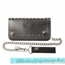 Bi-fold Leather Live to Ride Eagle Stud Biker Wallet
