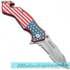 USA Flag Tactical Rescue Folder Spring Assisted Knife