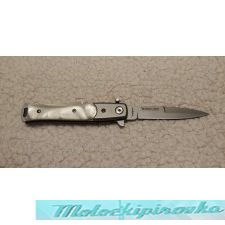 Stiletto Style Assisted Knife with White Pearl Handle