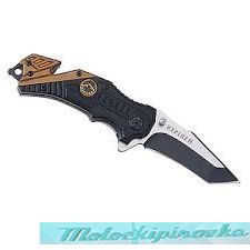 Spring Assist Military Marine Rescue Style Folding Knife