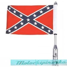 Motorcycle Flagpole Mount and Rebel Flag