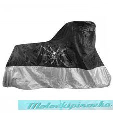 Xelement Premium Black or Silver Motorcycle Cover with Skull and Chain Graphics