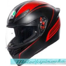 AGV Мотошлем K1 multi, warmup matt black-red