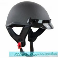 Outlaw T71-Carbon Flat Black Carbon-Fiber Ultra-Light Motorcycle Helmet