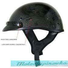 Outlaw T71-Carbon Glossy Carbon-Fiber Ultra-Light Motorcycle Helmet