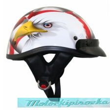 DOT Outlaw American Eagle Flag Half Helmet