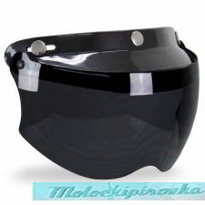 Outlaw Replacement Snap-on Visor with Flip-up Light Smoke Shield