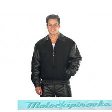 Мотокуртка Classic Varsity Wool & Leather Jacket