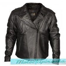 Xelement Armored Mens Black Leather Motorcycle Jacket
