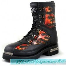 Men's Motorcycle Fire Starter Lace Up Boot