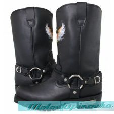 Mens Black Super Harness Boots