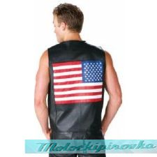 Мотожиле с флагом Mens USA American Flag