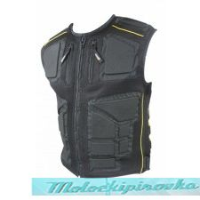 Mens Padded Vest with Tri-Tex Fabric and Mesh